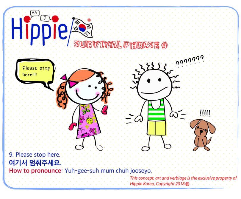 Survival Phrases 101 : Please stop here! – Hippie Korea